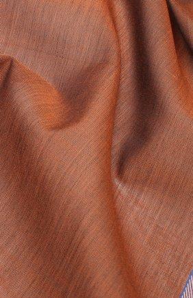 Мужской хлопковый платок SIMONNOT-GODARD коричневого цвета, арт. CHEVR0N | Фото 2