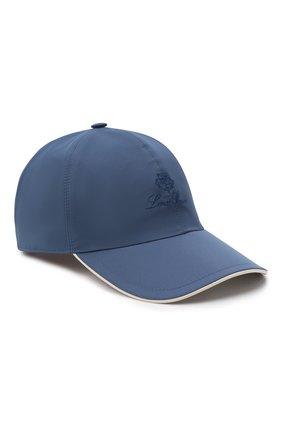 Мужской бейсболка LORO PIANA синего цвета, арт. FAB1977 | Фото 1