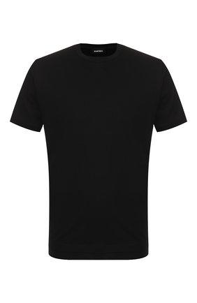 Мужская хлопковая футболка DIESEL черного цвета, арт. 00SW7W/0091A   Фото 1