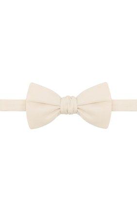 Мужской шелковый галстук-бабочка BRIONI белого цвета, арт. 01T200/P9456 | Фото 1