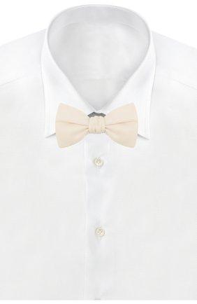 Мужской шелковый галстук-бабочка BRIONI белого цвета, арт. 01T200/P9456 | Фото 2