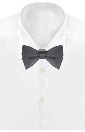 Мужской шелковый галстук-бабочка BRIONI темно-серого цвета, арт. 01S200/PZ411 | Фото 2
