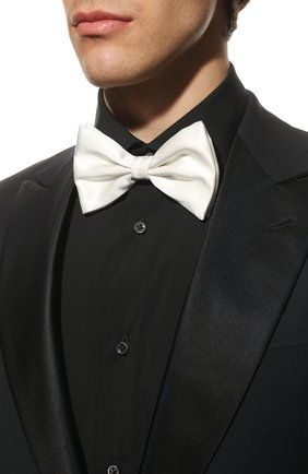 Мужской шелковый галстук-бабочка BRIONI белого цвета, арт. 01L200/PZ411 | Фото 2