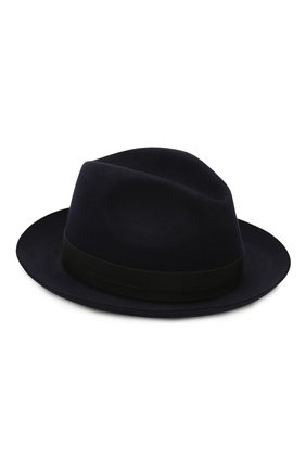 Мужская фетровая шляпа LORO PIANA темно-синего цвета, арт. FAI8967 | Фото 1