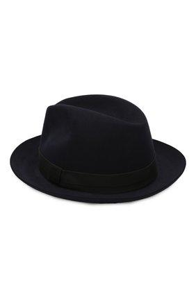Мужская фетровая шляпа LORO PIANA темно-синего цвета, арт. FAI8967 | Фото 2