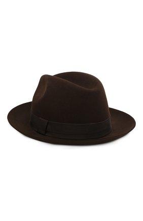 Мужская фетровая шляпа LORO PIANA темно-коричневого цвета, арт. FAI8967 | Фото 1