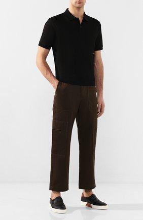 Мужские кожаные слипоны ZEGNA COUTURE черного цвета, арт. A4367X-LHPTA | Фото 2