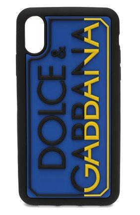 Мужской чехол для iphone xr DOLCE & GABBANA синего цвета, арт. BP2514/AJ980 | Фото 1