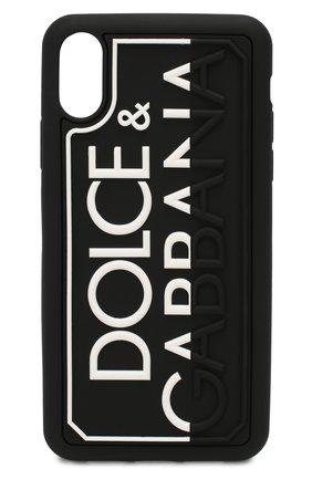 Мужской чехол для iphone xr DOLCE & GABBANA черного цвета, арт. BP2514/AJ980 | Фото 1