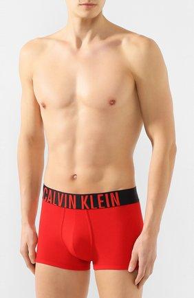 Мужские хлопковые боксеры CALVIN KLEIN красного цвета, арт. NB1042A   Фото 2