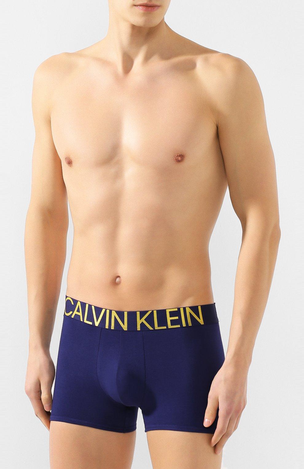 Мужские хлопковые боксеры CALVIN KLEIN темно-синего цвета, арт. NB1703A | Фото 2