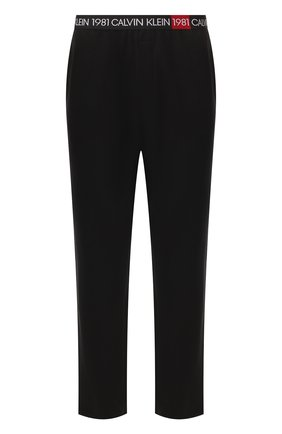 Мужские домашние брюки CALVIN KLEIN черного цвета, арт. NM1706E   Фото 1