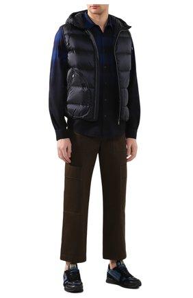 Мужской пуховый жилет RALPH LAUREN темно-синего цвета, арт. 790774257 | Фото 2
