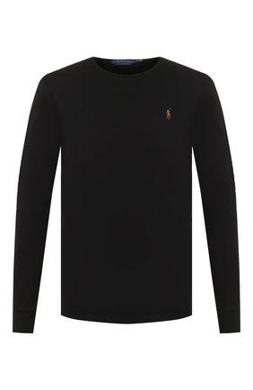 Мужская хлопковый лонгслив POLO RALPH LAUREN черного цвета, арт. 710760121 | Фото 1