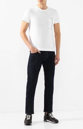 Мужская хлопковая футболка DIESEL белого цвета, арт. 00SASJ/0AAXJ | Фото 2