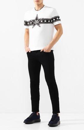 Мужские джинсы DOLCE & GABBANA черного цвета, арт. GY07LD/G8BQ8 | Фото 2
