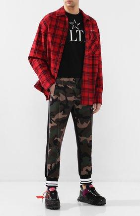 Мужская хлопковая футболка VALENTINO черного цвета, арт. TV3MG05P638 | Фото 2