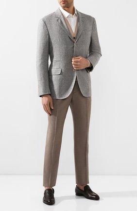 Мужские кожаные лоферы BRIONI темно-коричневого цвета, арт. QFDC0L/P7731 | Фото 2