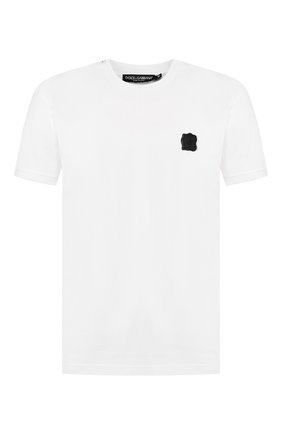 Мужская хлопковая футболка DOLCE & GABBANA белого цвета, арт. G8KC0Z/G7VLC | Фото 1