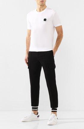 Мужская хлопковая футболка DOLCE & GABBANA белого цвета, арт. G8KC0Z/G7VLC | Фото 2