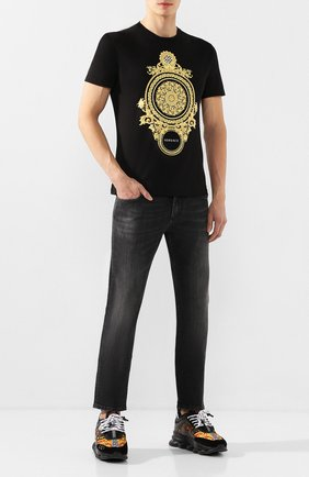 Мужские джинсы DOLCE & GABBANA темно-серого цвета, арт. GY07LD/G8BR4 | Фото 2