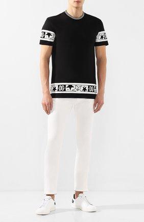 Мужские джинсы DOLCE & GABBANA белого цвета, арт. GY07LD/G8Y13 | Фото 2