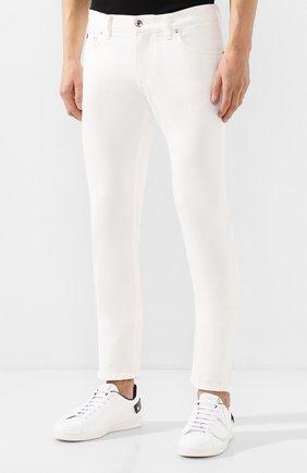 Мужские джинсы DOLCE & GABBANA белого цвета, арт. GY07LD/G8Y13 | Фото 3