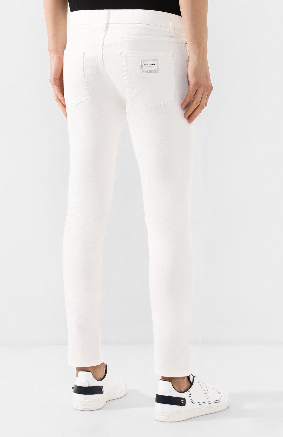 Мужские джинсы DOLCE & GABBANA белого цвета, арт. GY07LD/G8Y13 | Фото 4
