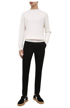 Мужской хлопковые брюки DOLCE & GABBANA черного цвета, арт. GY6IET/FUFJR | Фото 2