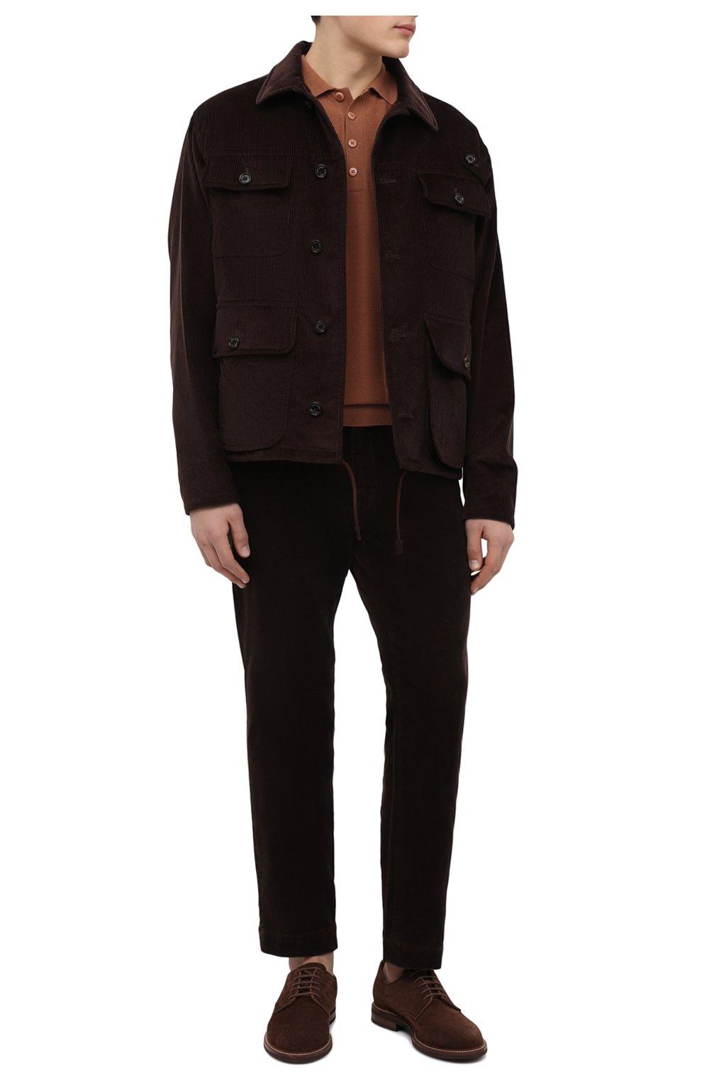 Мужские замшевые дерби BRUNELLO CUCINELLI коричневого цвета, арт. MZUKUDK938 | Фото 2