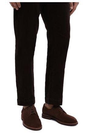 Мужские замшевые дерби BRUNELLO CUCINELLI коричневого цвета, арт. MZUKUDK938 | Фото 3
