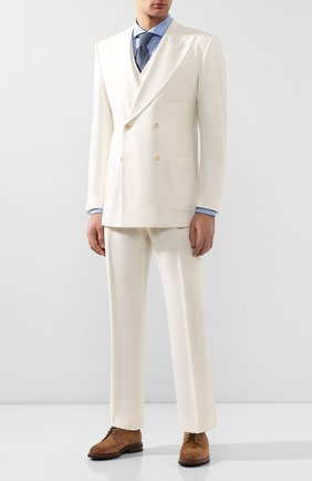 Мужской шерстяной костюм-тройка DOLCE & GABBANA белого цвета, арт. GKK7HT/FURGU | Фото 1