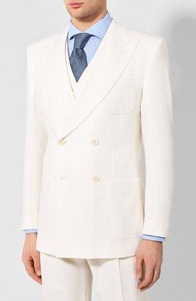 Мужской шерстяной костюм-тройка DOLCE & GABBANA белого цвета, арт. GKK7HT/FURGU | Фото 2