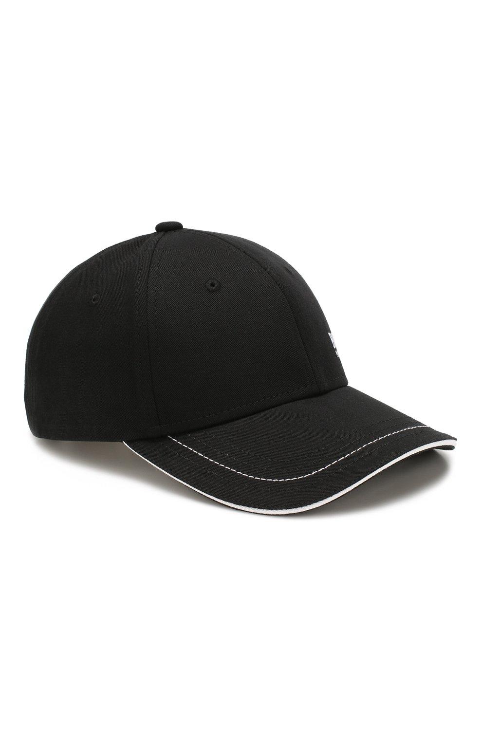 Мужской хлопковая бейсболка BOSS черного цвета, арт. 50245070 | Фото 1