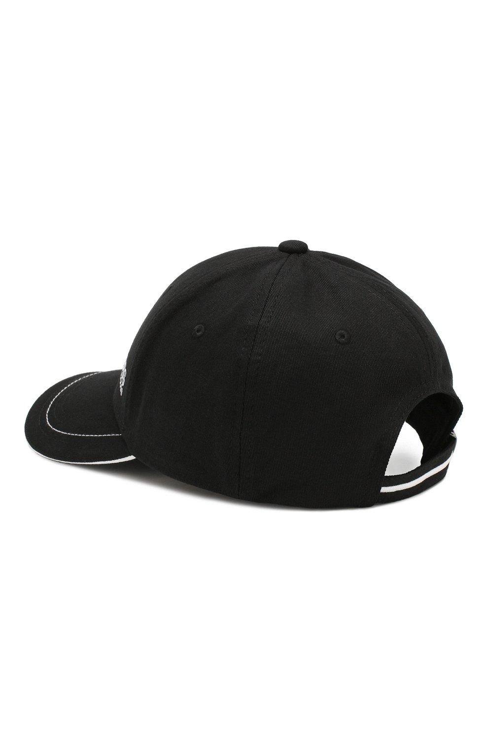 Мужской хлопковая бейсболка BOSS черного цвета, арт. 50245070 | Фото 2