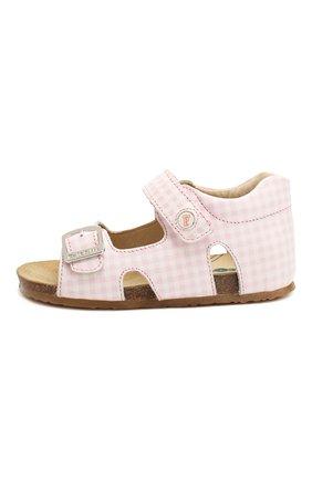Детские кожаные босоножки FALCOTTO светло-розового цвета, арт. 0011500737/21 | Фото 2