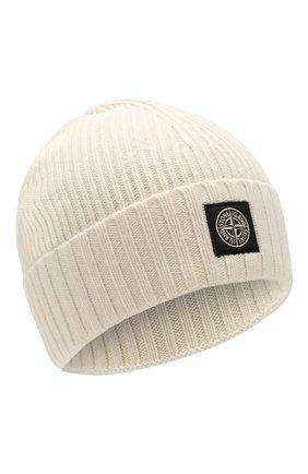 Детского шапка STONE ISLAND белого цвета, арт. 7116N03A6 | Фото 1