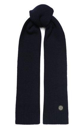 Детский шарф STONE ISLAND темно-синего цвета, арт. 7116N02A6 | Фото 1