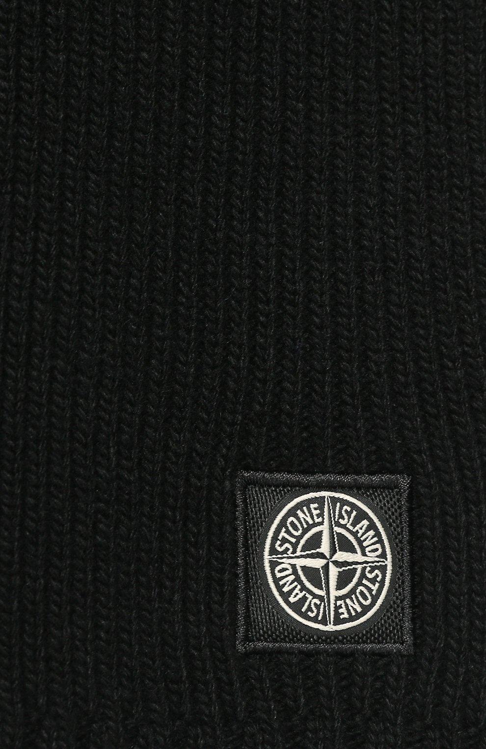 Детский шарф STONE ISLAND черного цвета, арт. 7116N02A6 | Фото 2