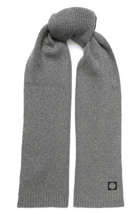 Детский шарф STONE ISLAND серого цвета, арт. 7116N02A6 | Фото 1
