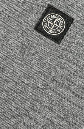 Детский шарф STONE ISLAND серого цвета, арт. 7116N02A6 | Фото 2