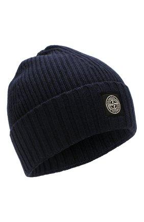 Детского шапка STONE ISLAND темно-синего цвета, арт. 7116N03A6 | Фото 1