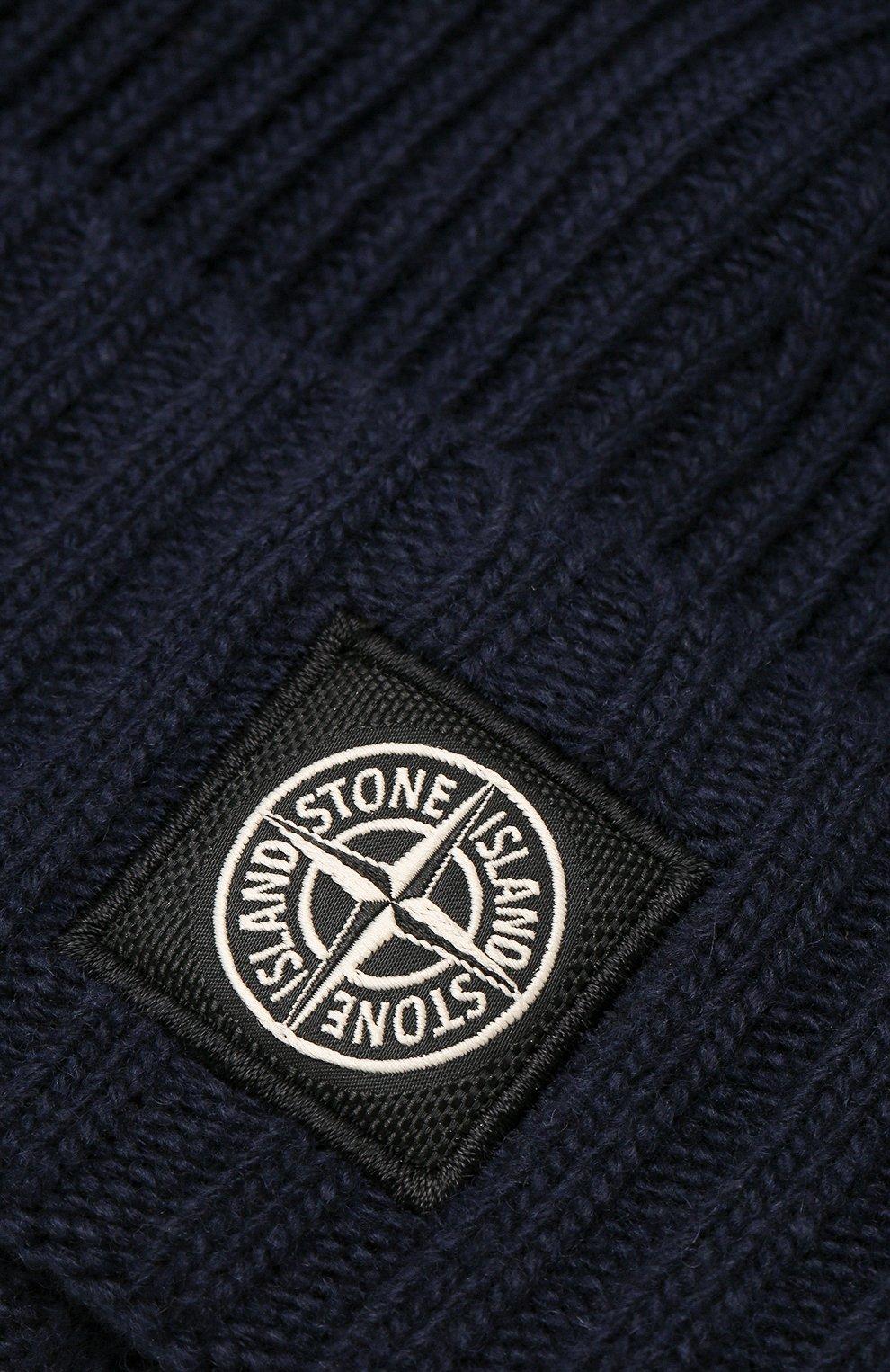 Детского шапка STONE ISLAND темно-синего цвета, арт. 7116N03A6   Фото 3
