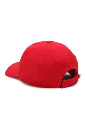 Детская хлопковая бейсболка MONCLER красного цвета, арт. F1-954-3B100-00-04863 | Фото 2