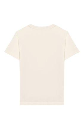 Детская хлопковая футболка MONCLER белого цвета, арт. F1-954-8C702-20-83907/8-10A | Фото 2