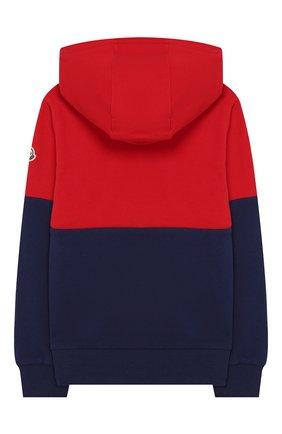 Детский хлопковое худи MONCLER красного цвета, арт. F1-954-8G702-20-809AG/4-6A | Фото 2