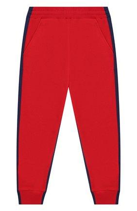 Детские хлопковые джоггеры MONCLER красного цвета, арт. F1-954-8H702-20-809AG/8-10A | Фото 1