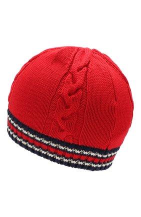 Детского хлопковая шапка MONCLER красного цвета, арт. F1-954-9Z700-20-V9072 | Фото 2