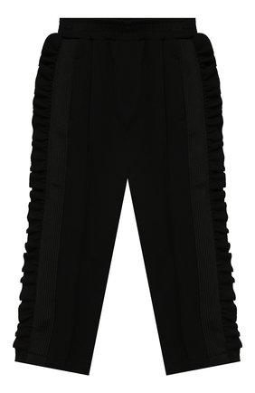 Детские брюки PHILOSOPHY DI LORENZO SERAFINI KIDS черного цвета, арт. PJPA20/JE08/UH026/XXS-XS   Фото 1