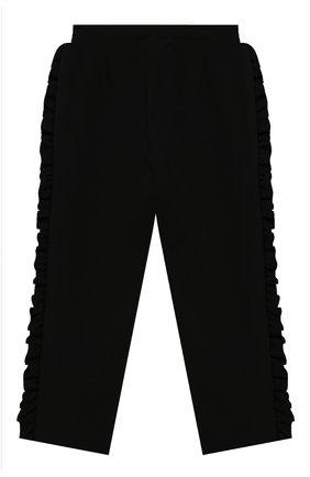 Детские брюки PHILOSOPHY DI LORENZO SERAFINI KIDS черного цвета, арт. PJPA20/JE08/UH026/XXS-XS   Фото 2